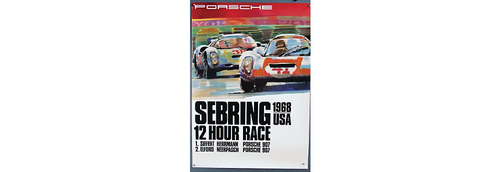 Nr. 2114 - PORSCHE März 1968, Porsche Rennplakat 12 Hour Race