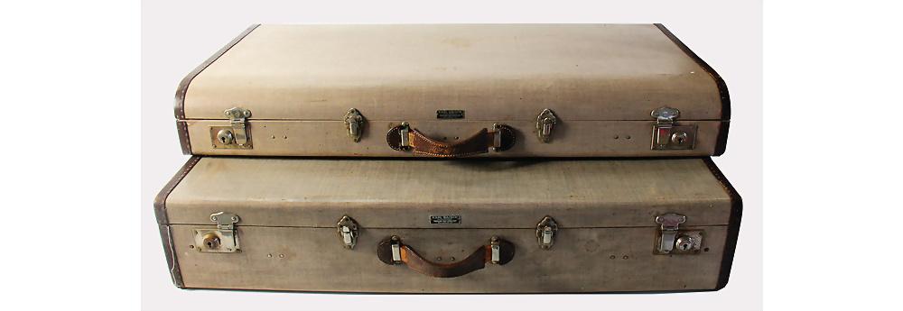 Nr. 3044 - MERCEDES-BENZ/KARL BAISCH Kofferset, 2tlg., original passend für Typ 300 'Adenauer'