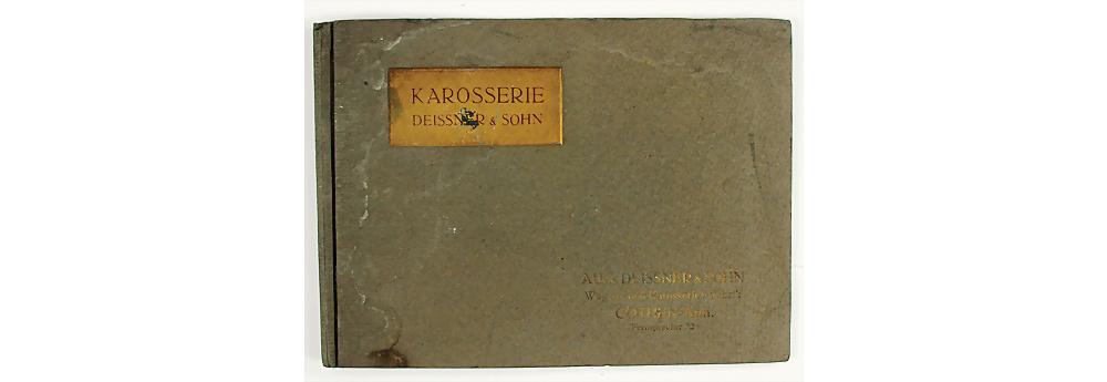 Nr. 412 - KAROSSERIE DEISSNER & SOHN Deutschland ca. 1910, Verkaufsmappe mit insg. 24 Zeichnungen