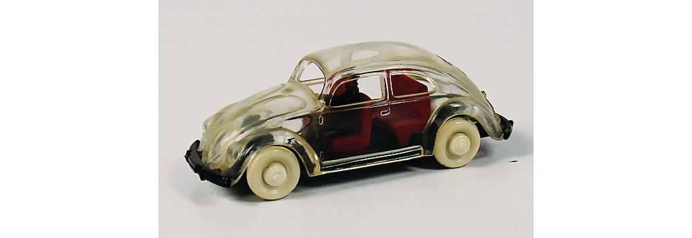 Nr. 5532 - WIKING/VOLKSWAGEN - Durchsichtiges VW-Modell mit Fahrerfigur