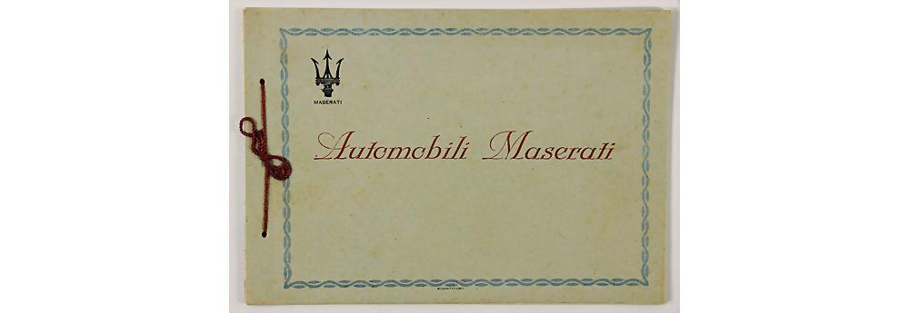 Nr. 6655 - MASERATI - 1930, erster Maserati Verkaufskatalog