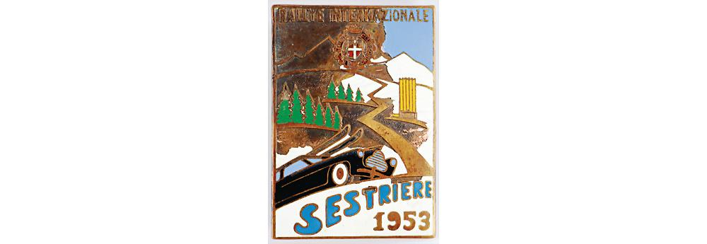 Nr. 6686 - Plakette des Automobile-Club Torino zur Rallye Internazionale Sestriere 1953