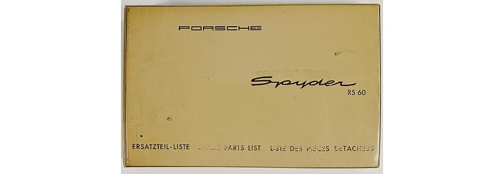 Nr. 90 - PORSCHE Deutschland 1959, Betriebsanleitung Porsche Spyder Typ RS 60