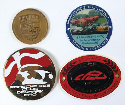 Porsche 356 550 911 912 Speedster Spyder Nurburgring Metal Enamel Emblem Badge