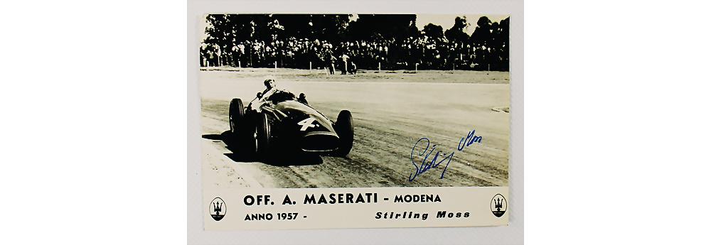 Nr. 4 - 1957, original Werkfoto Fahrerkarte, Stirling Moss