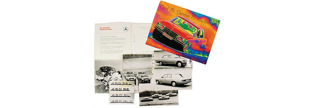 Nr. 86 - Pressemappe Genf 1973, Typen 450 SEL