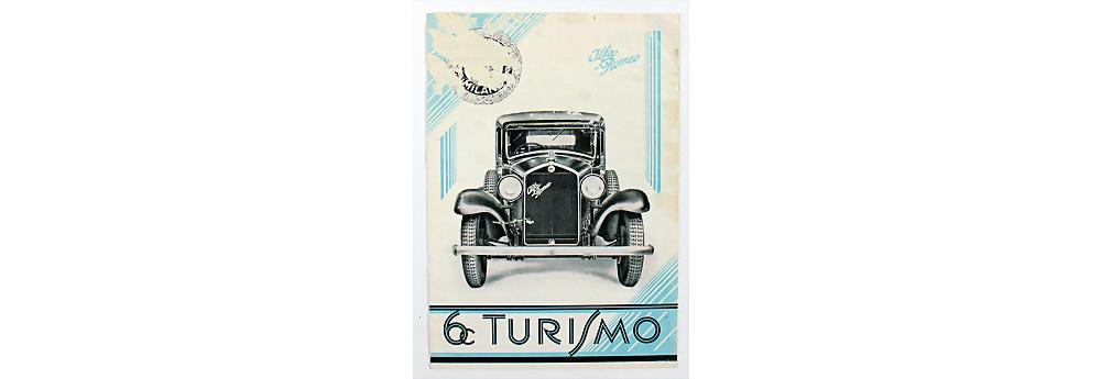 Nr. 1701 - Alfa Romeo, Faltprospekt Al 6C Turismo, 12 Seiten, italienischer Text