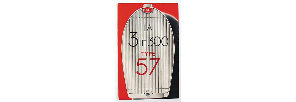 Nr. 19 - Bugatti, 1936, Faltprospekt 'La 3 Litre 300 Type 57'
