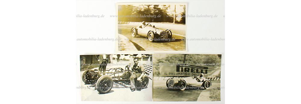 Nr. 2521 - Minardi, Konv. 3 original s/w Aufnahmen aus dem Jahr 1948