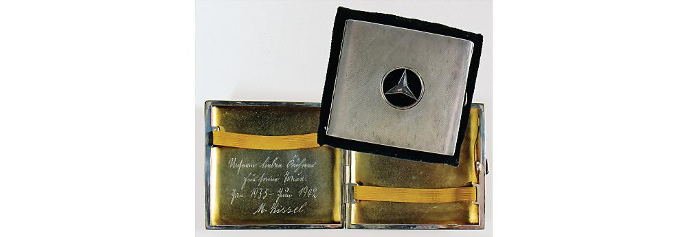 Nr. 3012 - Mercedes Benz, Zigarettenetui aus 925 Silber von 'L.S.Ayres&CO'