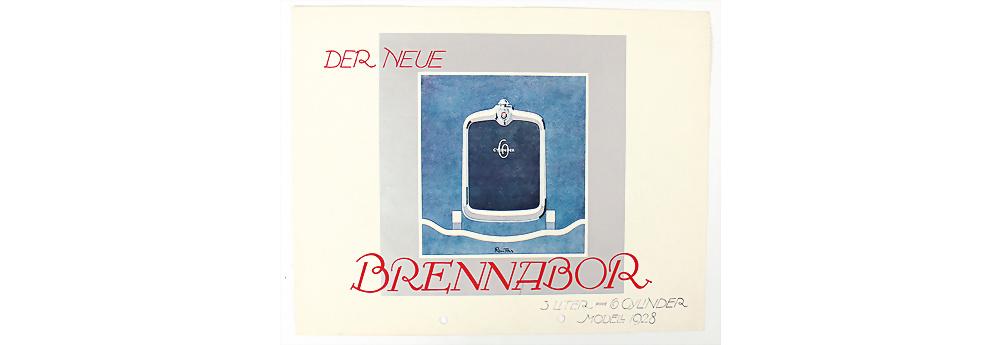 Nr. 37 - Brennador, 1928, Faltprospekt 'Brennabor 3 Liter 6 Cylinder'