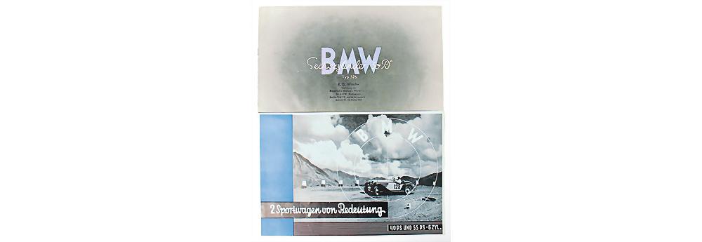 Nr. 38 - BMW, 1935, Faltprospekt '2 Sportwagen von Bedeutung', 40 und 55PS 6 Zylinder