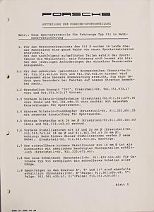 Porsche 911 915 Schaltgetriebe 1972 Technische Information Service Kundendienst Big Clearance Sale Manuals & Literature Sales Brochures
