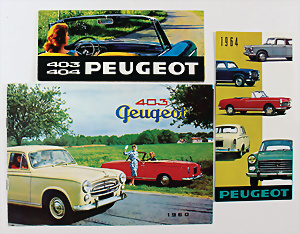 1965 PEUGEOT 404 SALOON French Brochure in English